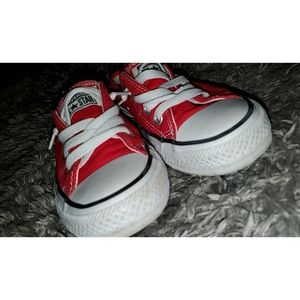 Shoes - Red converse shoes